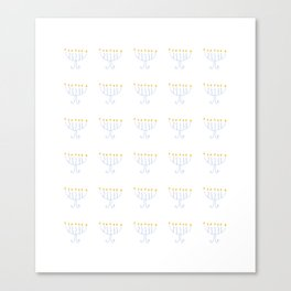 menorah 13- Hanukkah,jewish,jew,judaism,Festival of Lights,Dedication,jerusalem,lampstand,Temple, מְ Canvas Print