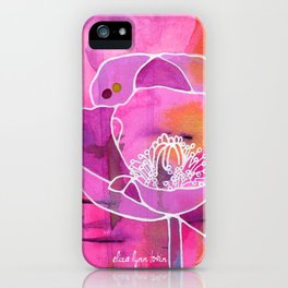 Pretty Poppy iPhone Case
