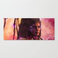 starcraft Canvas Prints featuring Sarah Kerrigan  by p1xer