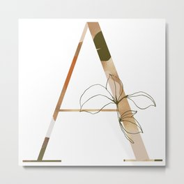 A is for Amelia Metal Print