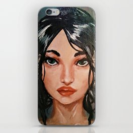 Portrait of Girl(Cecile) iPhone Skin