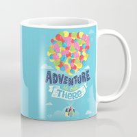 adventure is out there Mugs featuring Adventure is out there by Risa Rodil