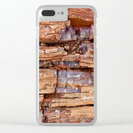 Geometric Crystal Rock Clear iPhone Case