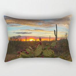 Cacti Sunset Rectangular Pillow
