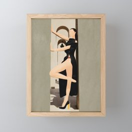 Elegant Model Flow Framed Mini Art Print
