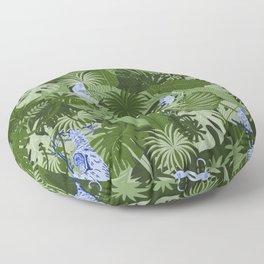 Blue Monkey Jungle Floor Pillow