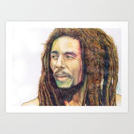 Marley Pen drawing Art Print
