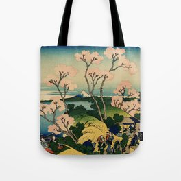 "Hokusai (1760–1849) ""Goten-yama-hill, Shinagawa on the Tōkaidō"" Tote Bag"