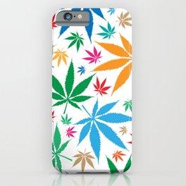 marijuana leaf color pattern iPhone Case