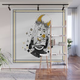 Moon Witch - Gold phase Wall Mural