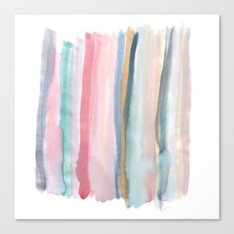 Watercolor stripe Canvas Print