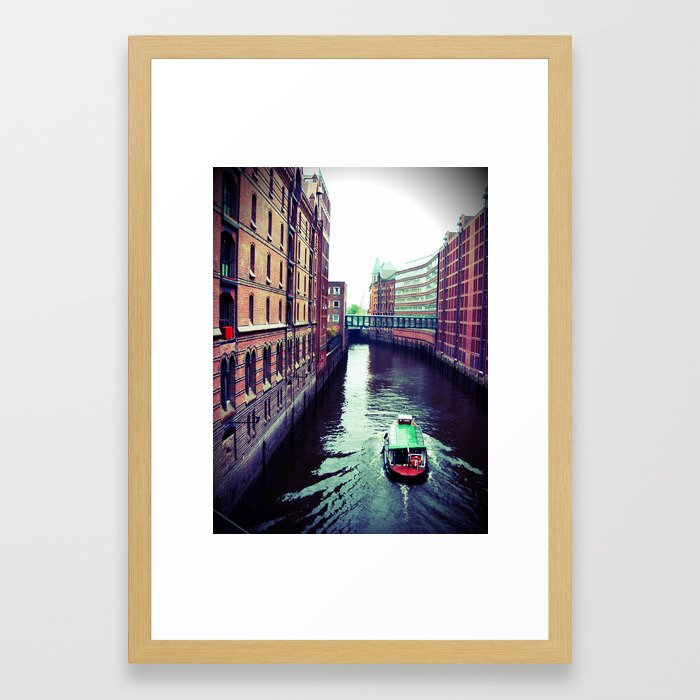 Hamburg or Venice? Framed Art Print by Christine aka stine1 on Society6