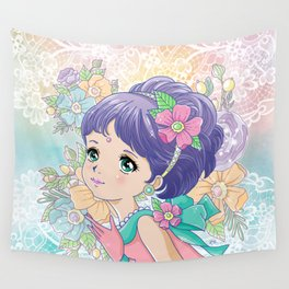 Pastel Lady Wall Tapestry