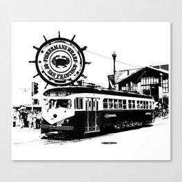 Fisherman Wharf, San Francisco Canvas Print