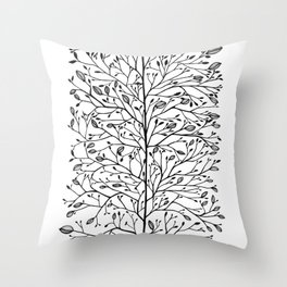 Branches and Buds Throw Pillow