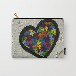 Autism Awareness Heart Carry-All Pouch
