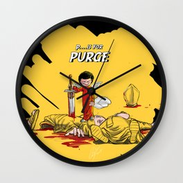 P.. is for Purge Wall Clock