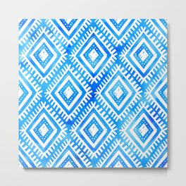 Blue tribal pattern Metal Print