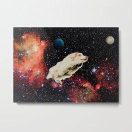 Pup. In. Space.  Metal Print