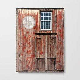 Fading Amish Barn Metal Print
