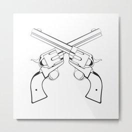 Crossed Colts Metal Print