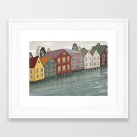 norway Framed Art Prints featuring Norway. by Lu Green