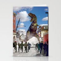 dinosaur Stationery Cards featuring Dinosaur by Beery Method