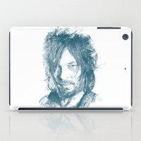 daryl dixon iPad Cases featuring DARYL DIXON by Chadlonius