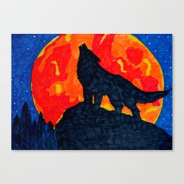 Wolf's Cry Canvas Print