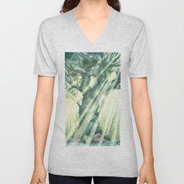 Acuarella wood Unisex V-Neck