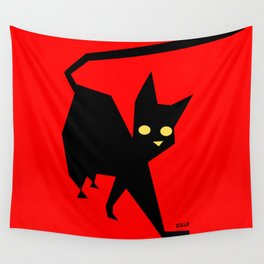 The Strut (Black Cat) Wall Tapestry