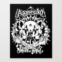 Red Panda Death Metal cutie Aggretsuko Canvas Print