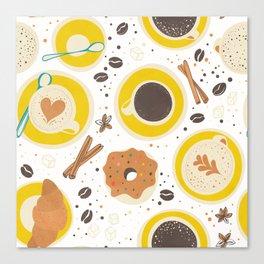 Coffee upper view Canvas Print