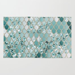 Mermaid Glitter Scales #3 #shiny #decor #art #society6 Rug