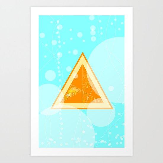 Orange Seltzer Art Print