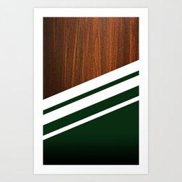 Wooden Forest Art Print
