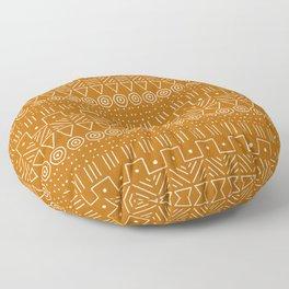 Mudcloth Style 1 in Orange Floor Pillow