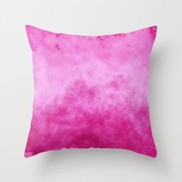 Faded Pink Ombre Paint Texture Throw Pillow