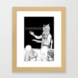 Owl Professor Framed Art Print