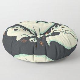 Ghost Cats Floor Pillow