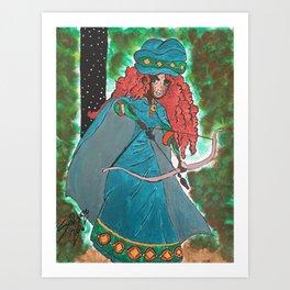 Princess Merida Art Print