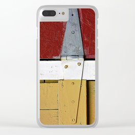 Isosceles Triangles on Wood Clear iPhone Case