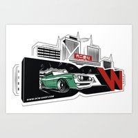 The Master C - Celica TA22 by DCW Classic Art Print