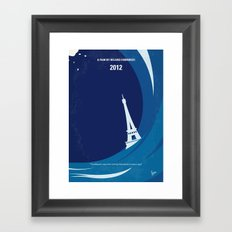 No709 My 2012 minimal movie poster Framed Art Print