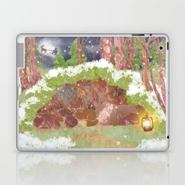 Miharu Shirahata | In the evening of falling snow Laptop & iPad Skin