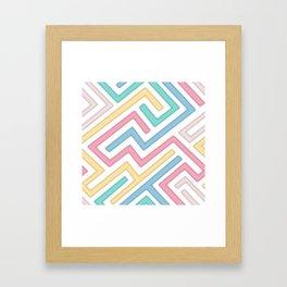Jigsaw Maze Framed Art Print