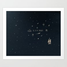 4. All of my thoughts Art Print