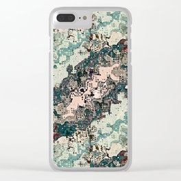 Colorful Textures Pattern 1 Clear iPhone Case