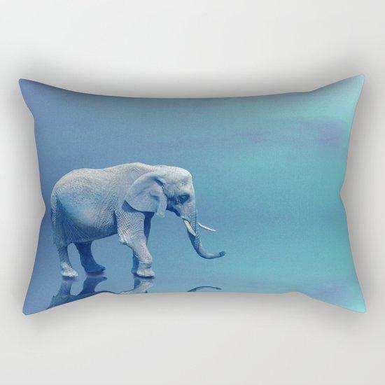 Lonely Elephant Rectangular Pillow