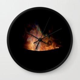 Blue Flames //// Wall Clock
